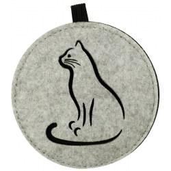 """Filz-Untersetzer """"Cats"""", 4er-Set mit Katzenmotiv"""