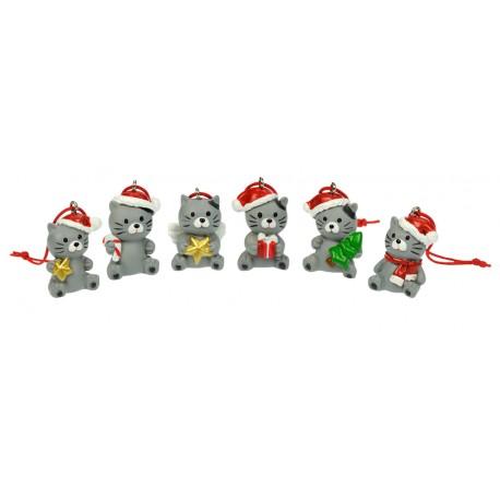 Weihnachtsanhänger Katzen - Geschenk Katzenfan