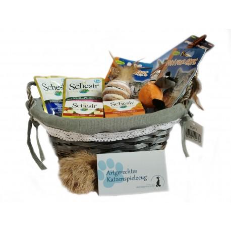 Geschenkkorb für Katzen - Geschenk für Katzenbesitzer - tolle Geschenkidee