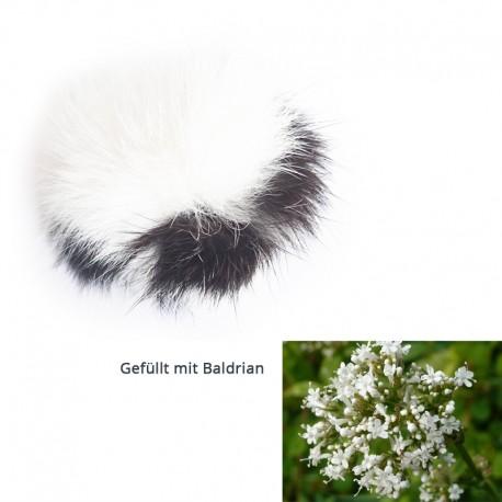 Fellball - Fellbommel - Spielball mit Baldrian - artgerechtes Katzenspielezug