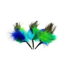 Purrs Peacock Fluffer – Ersatz-Federanhänger für Katzenspielangel
